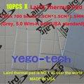 Бесплатная Доставка + Лучший Тепловая Кремния Pad, 5.0 Вт/мк, 1.5 СМ * 1.5 СМ * 1.5 ММ, лэрд Tflex Серии 700 Gap Filler Материал