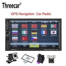 Threecar 2 Din gps навигации MP5 плеер автомобиля 7'HD Bluetooth стерео радио-зеркальная связь аудио USB Авто Электроника Авторадио 7021 г