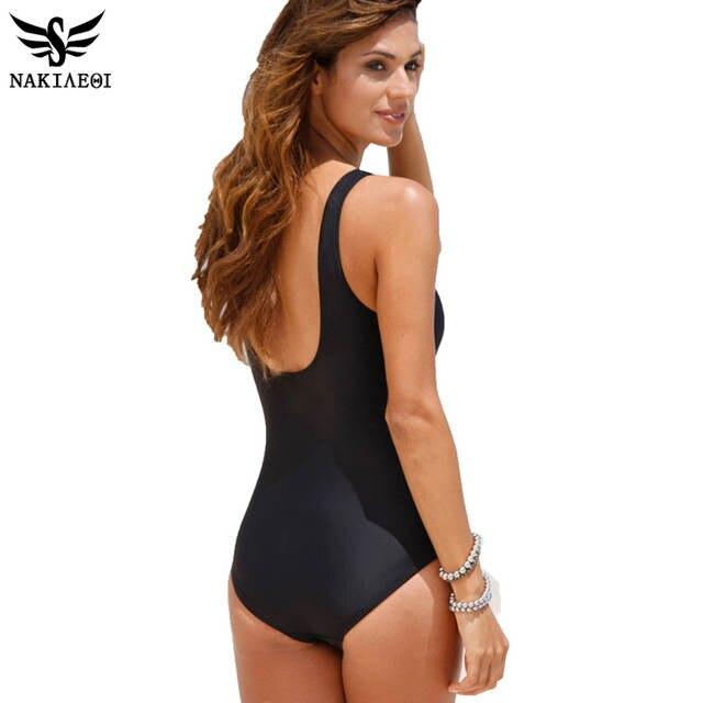 ac2e0a55d843e NAKIAEOI 2019 New One Piece Swimsuit Women Plus Size Swimwear Retro Vintage  Bathing Suits Beachwear Print