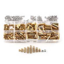 Hex Column Female Male Standoff Screw Nut Assortment Kit M2 M3 Brass Motherboard Hardware Accessories