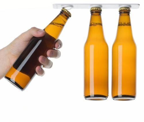 6 Magntic Bottle Hanger Holder Beer Loft  Magnetic Beer Bottle & Jar Hanger For Fridge, Organize w/ Magnet Holder Strips 1