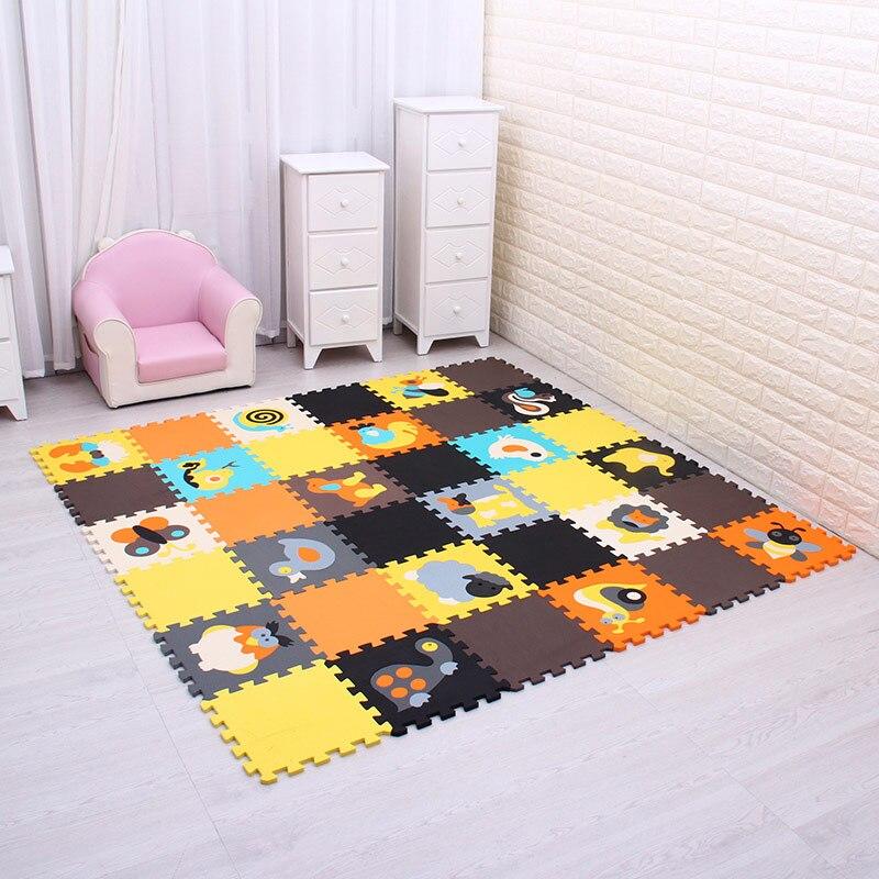 Mei qi frais animal solide couleur EVA Mousse Tapis Jouer Puzzle tapis Tapis De Sol Tapis pour Enfant Multicolore Protection Salon Tapis