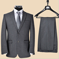 Quinquagenarian Suit Set  Woolen Male Suit Commercial Banquet Autumn And Winter Thick Men's Clothing Outerwear