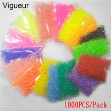 Vigueur 16 Styles 1000pcs/pack 1CM Silicone TPU Band 2017 Hair Accessories for Children Rubber Elastics Women Girl's Black Gum