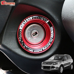 For Ford Escape Kuga 2013 2014 2015 2016 2017 2018 Ignition Key Hole Switch Ring Circle Cover Sticker Decoration Car Accessories(China)