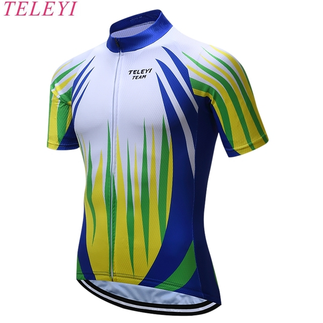 teleyi New Saxo Bank Tinkoff Flour Green Ropa Ciclismo Bike Sportswear Cycling  Clothing Racing Bicycle Clothes Cycling Jersey 372b5faea