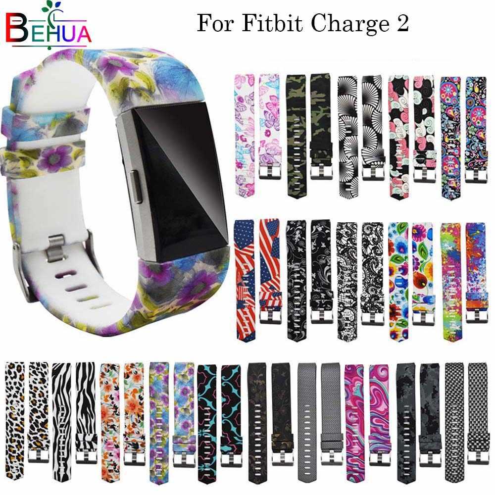 Спортивный силиконовый простой ремешок для Fitbit Charge 2, Смарт-часы с заменой ремешка, ремешок для часов, ремешок для Fitbit Charge2 band