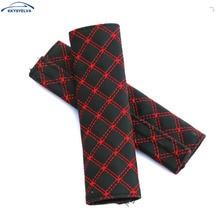 цена на 2 pcs/lot Red Wine Auto Car Seat belt Seat Belt Cover Shoulder Pad Car Safety Belt Cover Pad Sets Car Supplies