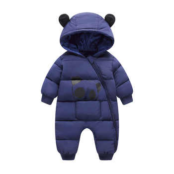 2019 new bron cold Winter Panda Baby costume Rompers Overalls Jumpsuit Newborn Girl clothes Boy Snowsuit Kids infant Snow Wear