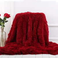Thicken fur blankets sofa long shaggy fuzzy soft fur blanket bed throw blanket towel travel portable car cover blanket kids
