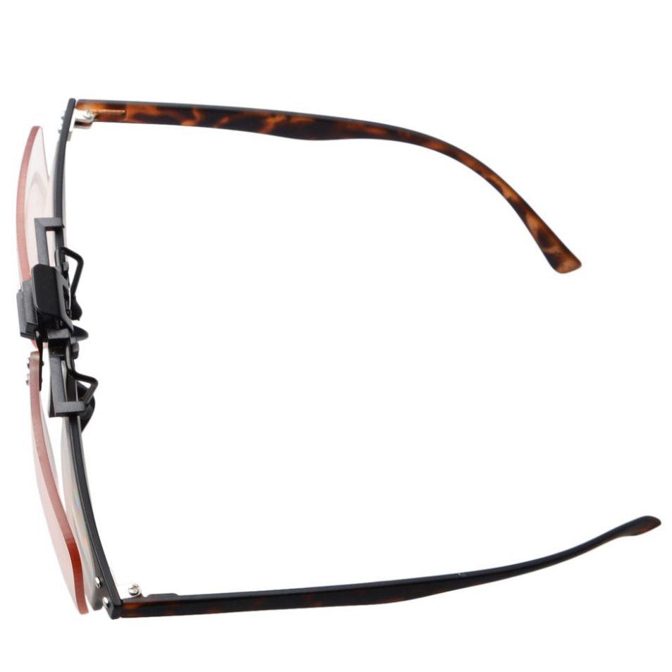 CG2 Eyekepper флип-ап клип-на янтарные тонированные линзы компьютерные очки антибликовые, анти Синие лучи чтения очков