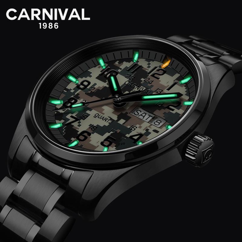 New T25 Tritium Luminous Sport Watch Men Carnival Military Camouflage Quartz Wristwatch Waterproof Male Clock erkek