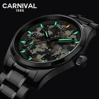 Nieuwe T25 Tritium Lichtgevende Sport Horloge Mannen Carnaval Militaire Camouflage Quartz Horloge Waterdicht Mannelijke Klok erkek kol saati Quartz Horloges    -