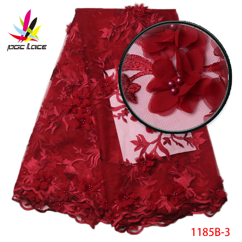 Buy African 3D Lace Flower Bridal Fabric 2017 High Quality