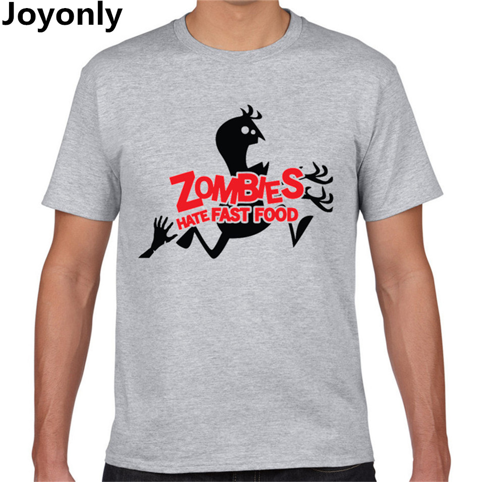 Joyonly zombies hate fast food t shirt cartoon image t for Coole t shirt sprüche