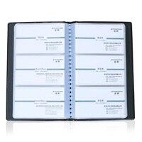 120 слотов 240 карт вместительность искусственная кожа Бизнес Имя карта-книга альбом Контейнер сумка для хранения для личи шаблон Черный 1139