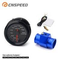 CNSPEED 2''52MM 7 Farben Led Wasser Temperatur Gauge 40-140 Celsius Hohe Geschwindigkeit Mit Wasser Temp Joint Rohr Sensor adapter