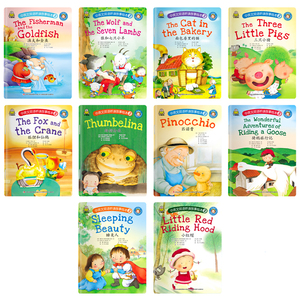 Image 2 - 10Pcs/Set Chinese and English bilingual listening and reading story picture book Kids Bedtime Short Story Book