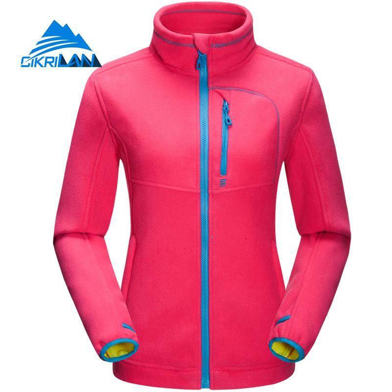 Womens Windbreaker Full Zip Long Sleeve Camping Hiking Coat Warm Outdoor Fleece Jacket Women Climbing Fishing Casaco Feminino