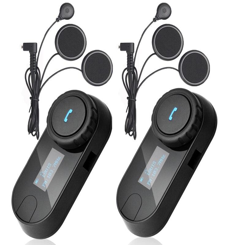 LCD Screen FM Radio+Soft Earphone TCOM-SC Helmet Headset Bluetooth Intercom Motorcycle Helmet Headset Bt Interphone