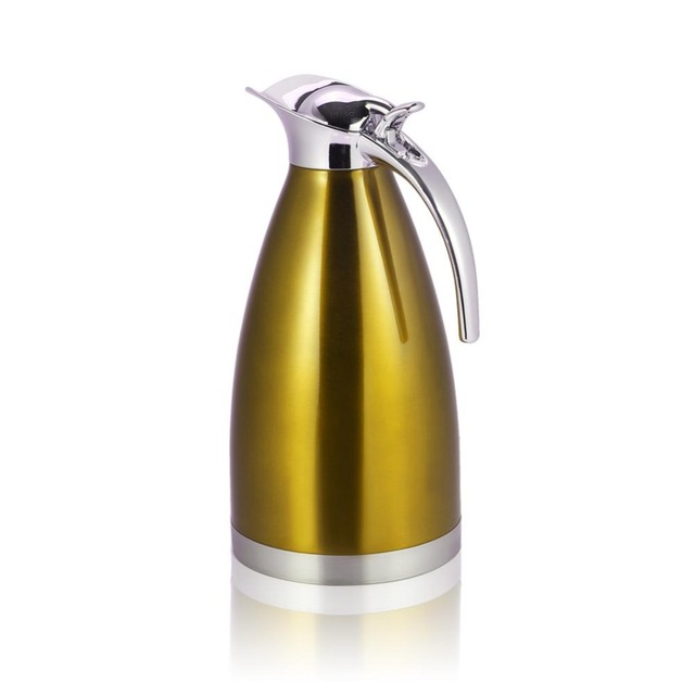 b508eeb02c 1.5L 2L Stainless Steel Water Bottles Coffee Pot Thermal Carafe Insulation  Vacuum Flask Kettles Jug Flask Tea Kettle