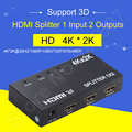 Adaptador HIDI Switch kvm HDMI 3D SPLITTER 1x2 HD 3D 4 K x 2 K para PC DVD Receptores de Satélite Digital Filmadoras HDTVs Dispositivos Xbox TV