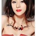 1 шт. сливы Сексуальная Грудь Татуировки Наклейки Женщины Body Art Водонепроницаемый Временные Татуировки Наклейки Цветок ротанга Назад шеи татуировки
