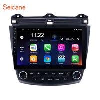 Seicane Android 8.1/7 .1 10.1 2DIN Car Head Unit Radio Player GPS Navigation For Honda Accord 7 2003 2004 2005 2007 Quad core