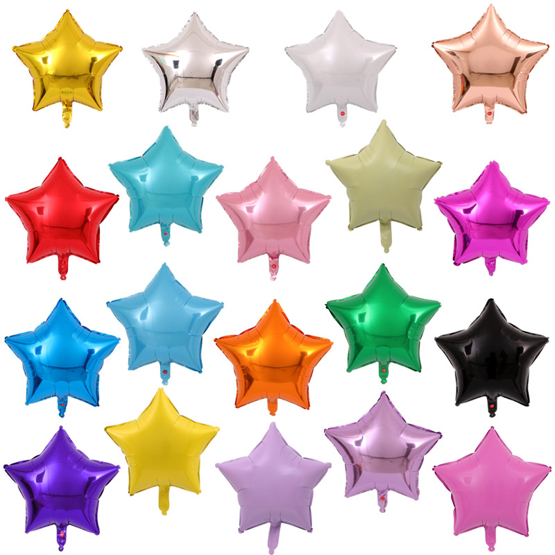 New 18-inch Pentagram aluminum balloons Happy Birthday party decoration balloon Wedding Baby shower supplies