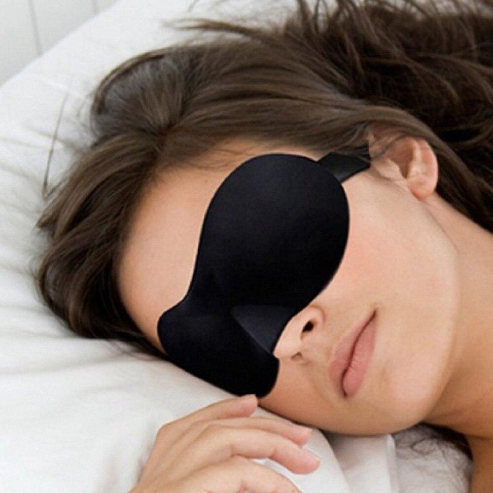 1Pc Soft Relax 3D Natural Sleeping Eye Mask Sleep Padded Cover Portable For Travel Rest Blindfold Eyepatch For Women Men