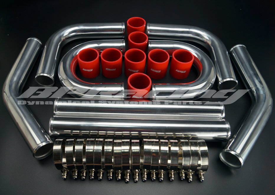 "2.5"" INCH / OD 63 mm / 2MM THICKNESS / ALUMINUM TURBO INTERCOOLER PIPING KIT/ PIPES / CLAMP/ COUPLER/ UNIVERSAL"