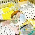 Продвижение! 3 шт. микки маус постельное белье кроватки комплект 100% хлопок детская кроватка устанавливает детская кровать, Включают ( пододеяльник / лист / чехол )