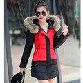 Nieve desgaste chaqueta de otoño e invierno de las mujeres wadded chaqueta femenina delgada chaqueta corta de algodón acolchado ropa de abrigo abrigo de invierno de las mujeres S-XXXL