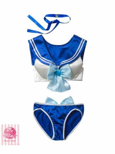 Freiheit Sailor Mond Mädchen Sexy Bikini Badeanzug Dessous Sailor Anzug Cosplay Kostüme Plus Größe 5 Farben