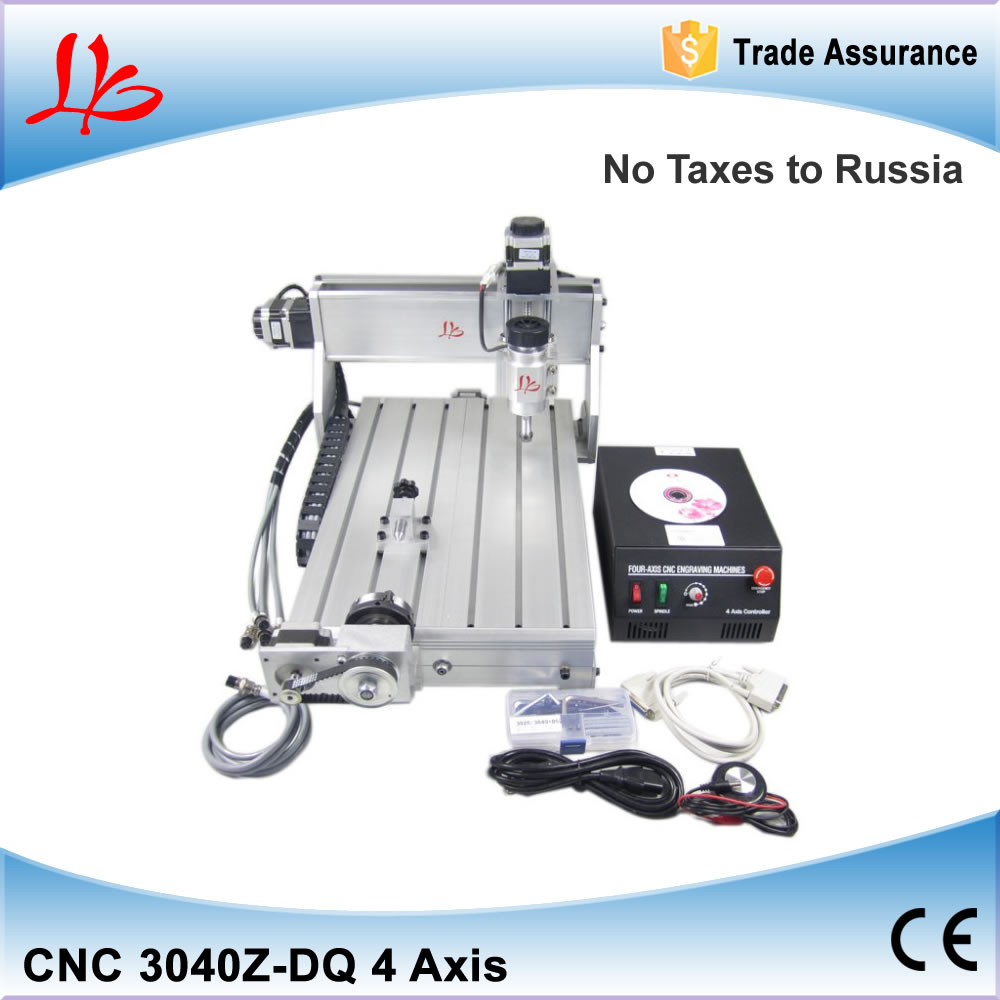 NO TAX to Russia Ukraine, 4 Axis CNC3040 3040Z-DQ Engraving Machine CNC Router carving machine russia no tax 1500w 5 axis cnc wood carving machine precision ball screw cnc router 3040 milling machine