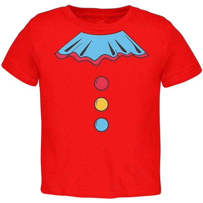 Cheap T Shirt Design Short Men 100% Cotton Crew Neck Halloween Clown Costume Toddler Tee