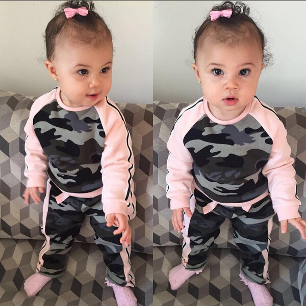 9417aa524 Fashion Camouflage Baby Boy Girl Clothing Set Winter cotton girls Top+Pants  2pc Suit Long Sleeve Infant Baby Clothes Set-in Clothing Sets from Mother &  Kids