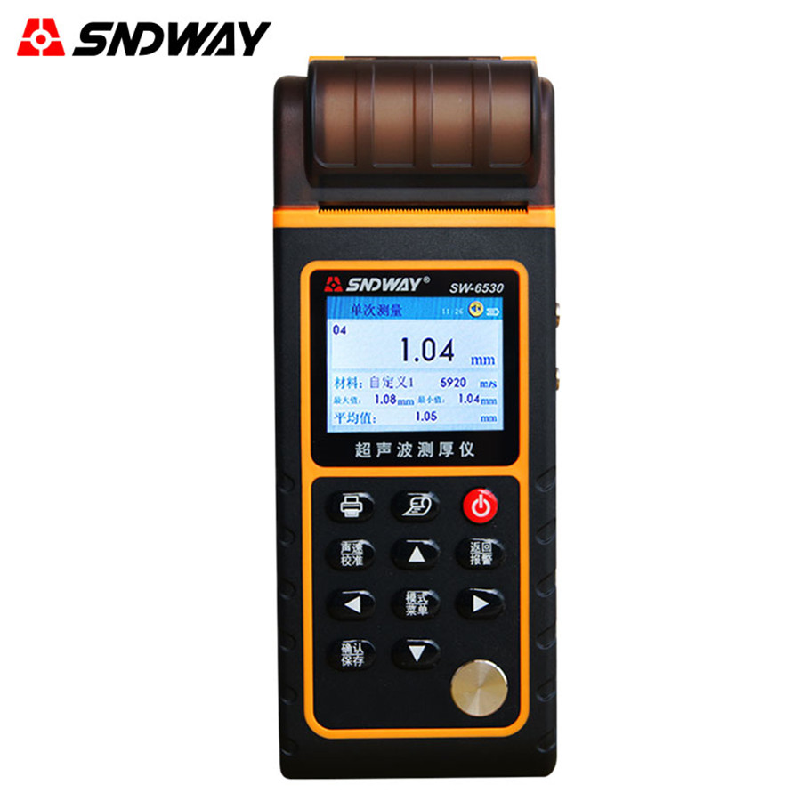 SW-6530 Ultrasonic Thickness Gauge Color High Precision Metal Plate Thickness Gauge Digital Glass Thickness Gauge new high precision digital micrometer precision thickness gauge 0 12 7mm 0 001mm paper film fabric tape thickness measurement