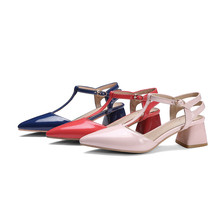 ASUMER pink blue fashion pointed tor buckle spring autumn shoes woman elegant wedding shoes women high heels shoes size 46