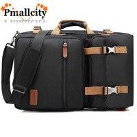 Convertible Backpack Messenger Bag Shoulder bag Business Briefcase Travel Rucksack Multi functional Handbag Laptop Bags 17.3 17