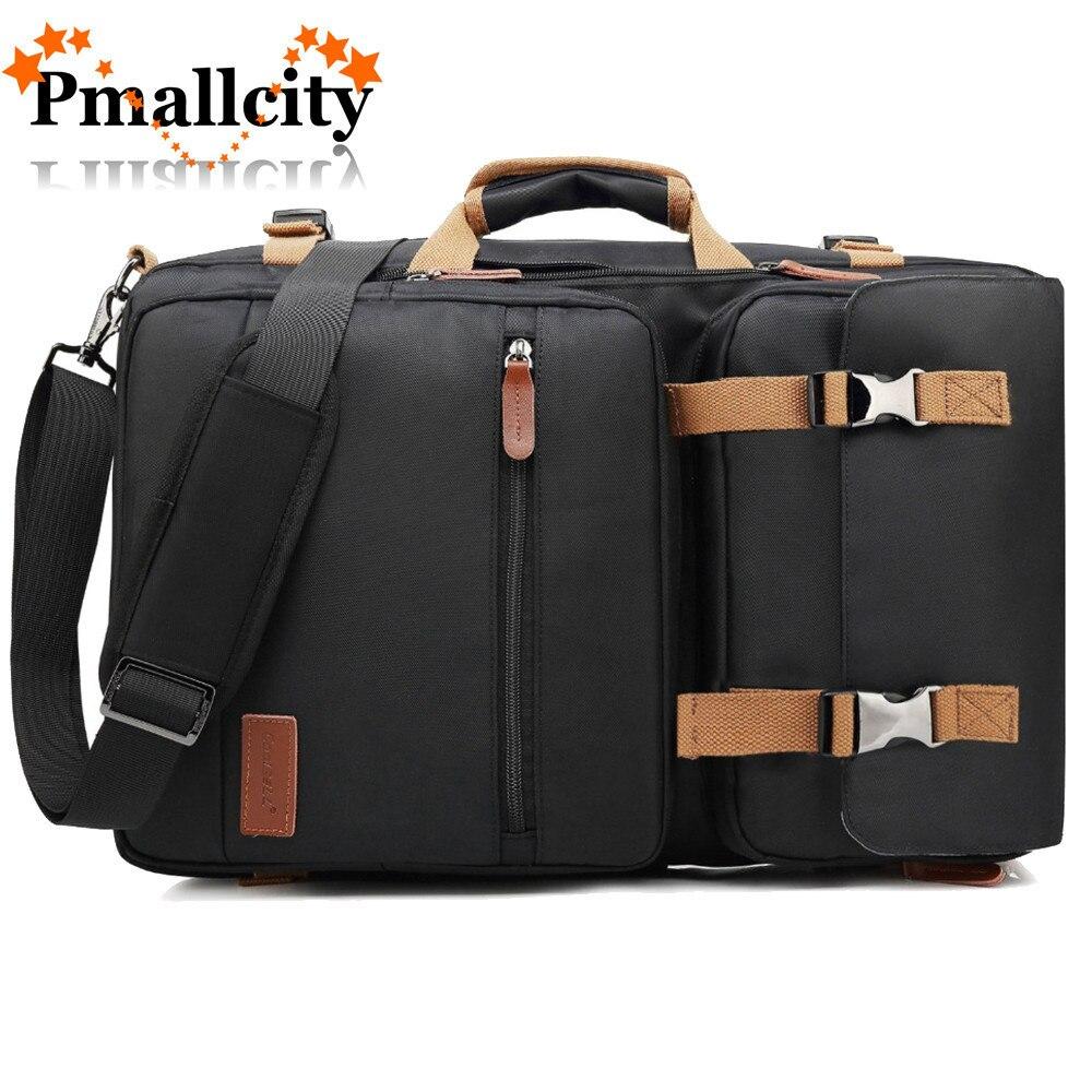 Sac à dos Convertible sac Messenger sac à bandoulière mallette d'affaires sac à dos de voyage sac à main multifonctionnel sacs pour ordinateur portable 17.3 17