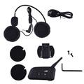 V6-1200 Motorcycle Helmet Bluetooth Intercom Soft Motorcycle Wireless Headphones Accessories Six People Intercom US Plug 2017