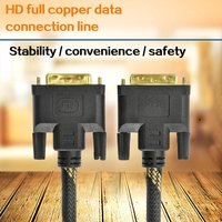 ONLENY 10 Meters DVI 24+1 Computer Monitor High Definition Cable DVI D Copper Data Cable Double Magnetic Ring Woven Mesh