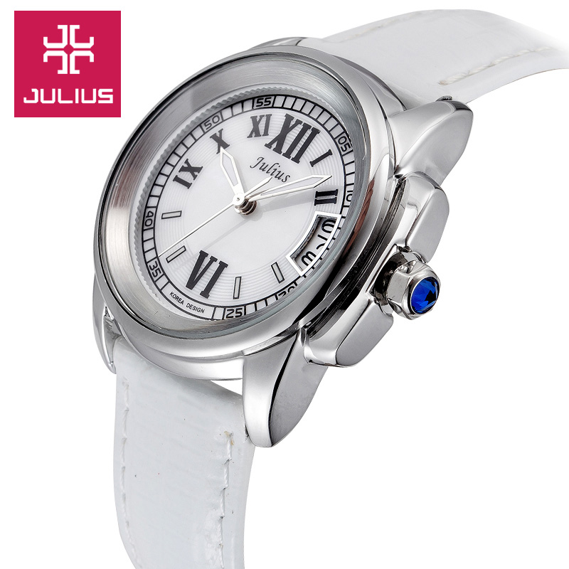Top Julius Lady ženske 5 boja Auto Datum ručni sat Elegantan Shell - Ženske satove - Foto 3