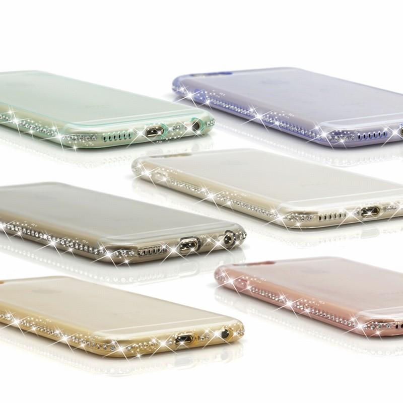 For Coque iPhone Paillettes For iPhone 6 Cases 7plus 5 S 5S SE housse telephone Luxury transparent etui Mobile Phone Accessories (41)