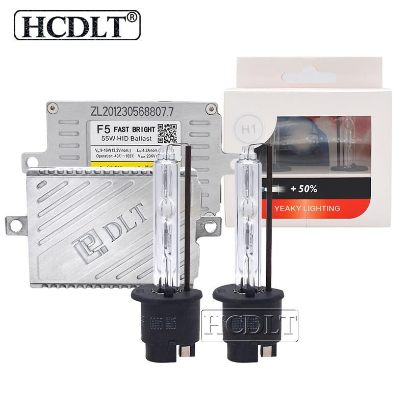 HCDLT Xenon H7 H1 H11 9005 9006 D2H HID Kit de Conversion AC 55 W DLT F5T Ballast réacteur & 35 W Yeaky Xenon lampe 4500 K 5500 K 6500 K