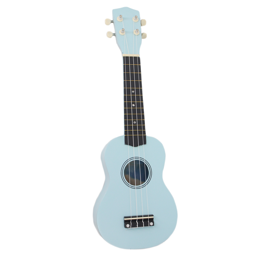 21 Inch Beginner Acoustic Ukulele For Students Kids Blue Basswood 4 Strings Mini Hawaii Guitar Ukelele Freeshipping