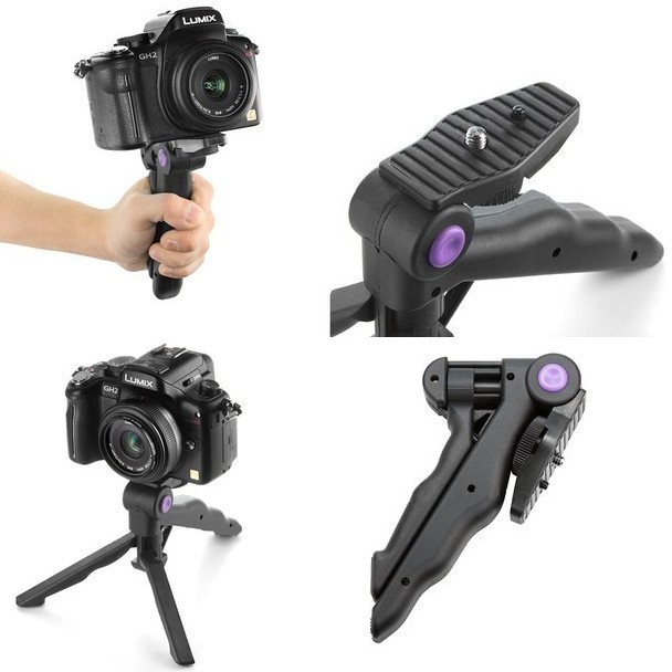 Lightweight Camera Folding Tripod Stand Stabilizer steady Handheld Grip for Canon Nikon Sony Video DV DSLR