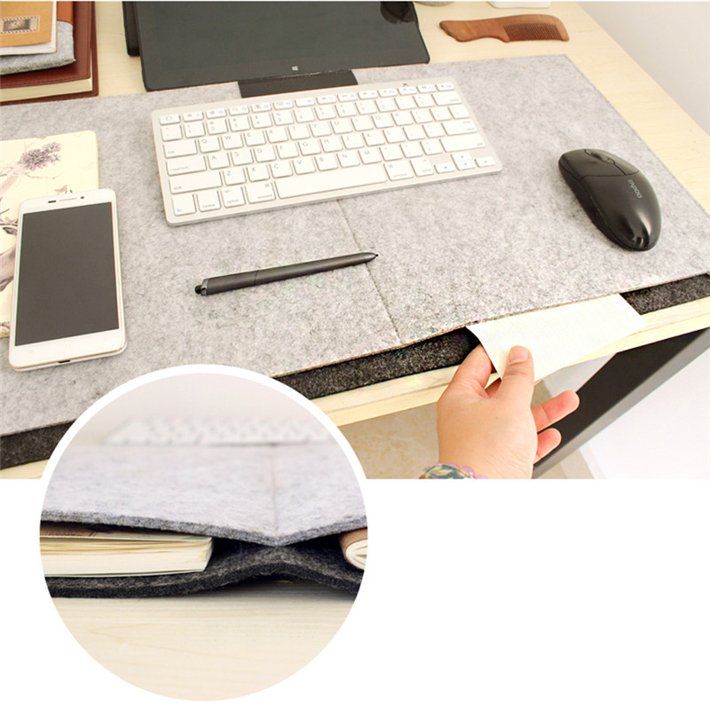 Fashion Computer Peripherals Desk Mat Modern Table Felt Office Desk Mouse Pad Holder Woo ...