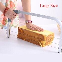 Regulowane duże 3 ostrza ciasto przecinak międzywarstwowy ciasto krajalnica DIY domowe wypieki narzędzia niwelator piła ze stali nierdzewnej